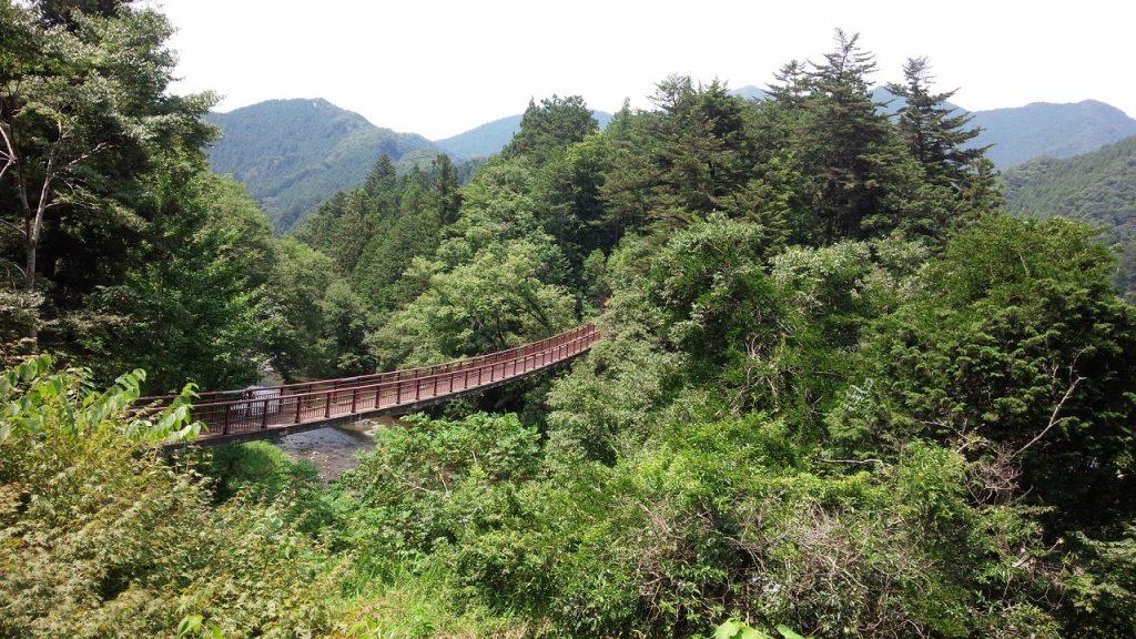 秋川渓谷の石舟橋