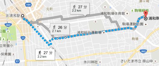浦和駒場スタジアムへのアクセス(北浦和駅)