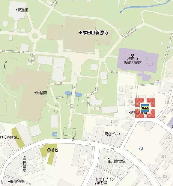 成田山新勝寺の駐車場(タイムズ)