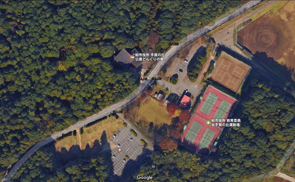 手賀の丘公園の駐車場