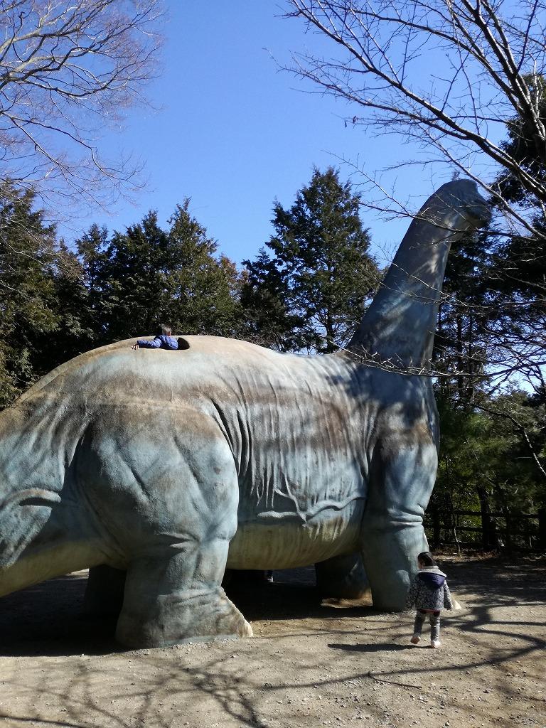 手賀の丘公園の恐竜すべりだい