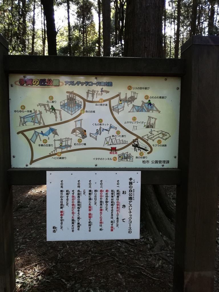 手賀の丘公園のアスレチック