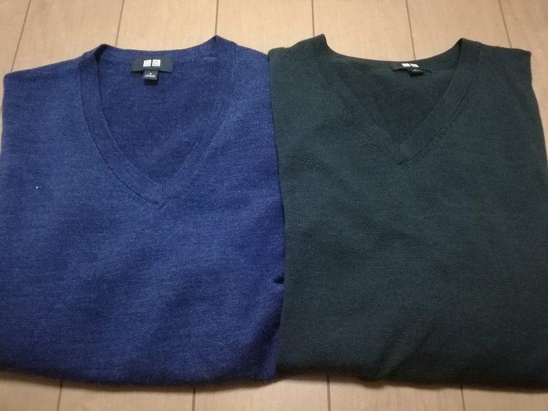 ユニクロのメリノウールVネックセーターがコスパ最高!